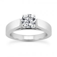 Classic 3.75mm wide Cathedral Solitaire Engagement Ring