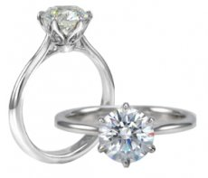 Dulce Amore Solitaire Ring With Delicate And Graceful Prongs