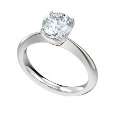 Solitaire Four Prong Engagement Ring