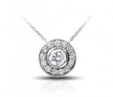 Stunning Bezel-Set Pendant Accented With Natural Diamonds