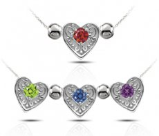 From the Heart Pendant Set With Color Enhanced Diamonds