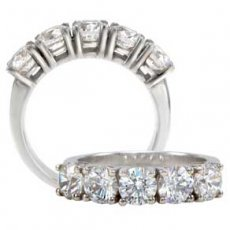 Gorgeous 5 Stone Anniversary Band Set With Russian Brilliants®
