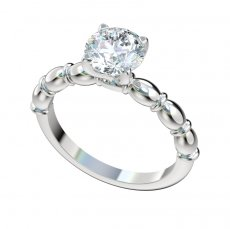Fancy Solitaire Engagement Ring