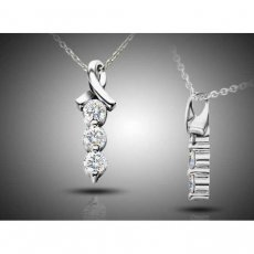 Sincerity 3 Stone Pendant Set With Russian Brilliants®