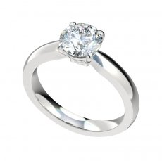 Solitaire Basket Setting Engagement Ring