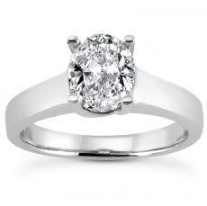 Cathedral Trellis Solitaire Ring For Oval Shape Stone