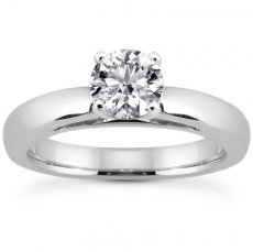 3mm Classic Cathedral Solitaire Engagement Ring