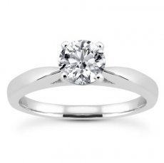 2mm Cathedral Solitaire Engagement Ring