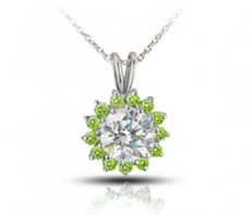 Joyous Celebration Pendant With Color Enhanced Natural Diamonds