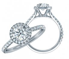Token of Love Stunning Halo Engagement Ring