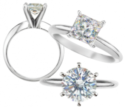 Russian Brilliants® Solitaire Ring