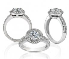 Destiny Elegant Ring Accented With Natural Diamonds