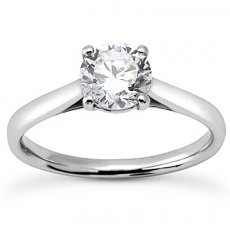 Cathedral 4 Prong Round Solitaire Engagement Ring