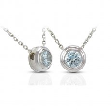 Classic Bezel Slide Pendant set with Russian Brilliants
