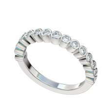 Bezel Set 15 Diamond Band 0.30ct Total Weight