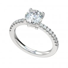 Engagement Ring With 0.24ct Prong Set Diamond Shank