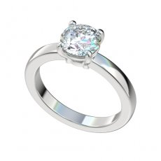 Solitaire Basket Setting Flat Shank Engagement Ring