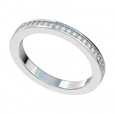 Bead Set Diamond Band 0.17ct Total Weight 2.3mm Wide