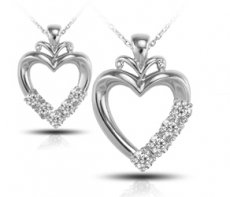 Generous Heart Pendant Accented With Russian Brilliants®