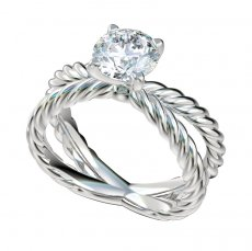 Split Shank Cable Solitaire Engagement Ring