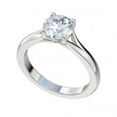 Split Shank Cathedral Solitaire Engagement Ring