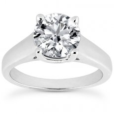 Cathedral Trellis Solitaire Ring For Round, Princess Or Asscher