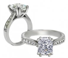 Venus IV Gorgeous Double Prong Ring - Natural Diamond Accents