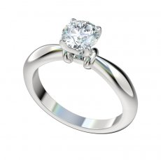 Solitaire Pinched Shank Engagement Ring