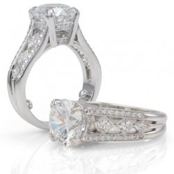 Lillian-Exquisitely Accented With Natural Diamonds