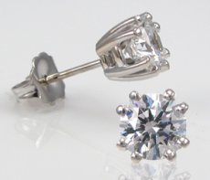Elegant Double Prong Earrings