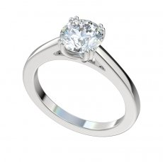 Cathedral Double Prong Solitaire Engagement Ring