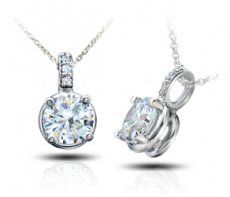Sweetest Memories Pendant Accented With Natural Diamonds