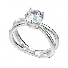 Split Shank Solitaire Basket Style Head Engagement Ring