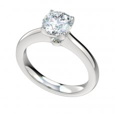 Solid Cathedral Solitaire Engagement Ring
