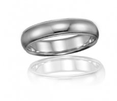 Wedding Band - Half Round Accented With Milgrain Edges