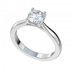 Cathedral Solitaire Engagement Ring