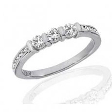 Gentle Elegance Matching Band -Channel Set With Natural Diamonds