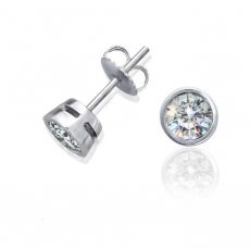 Precious - Bezel Set Round Stud Earrings