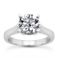 Now & Forever Round Cathedral Solitaire Engagement Ring