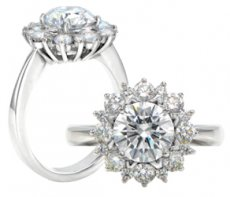 Celestial Halo Ring With Russian Brilliants® & Natural Diamonds
