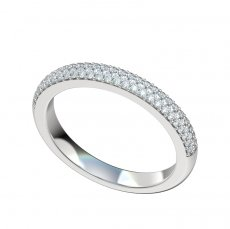 Micro Pave Diamond Band 0.39ct Total Weight