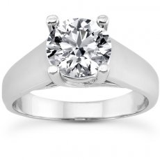 Cathedral Trellis Solitaire Ring - Bold Style