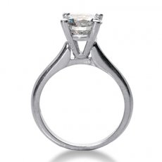 2.8mm Cathedral Solitaire Engagement Ring