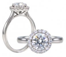 Radiance Halo Ring With Russian Brilliants® & Natural Diamonds