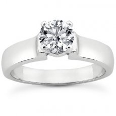 4mm Wide Cathedral Solitaire Engagement Ring