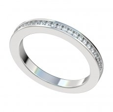 Channel Set Diamond Band 0.24ct Total Weight 2.3mm Wide