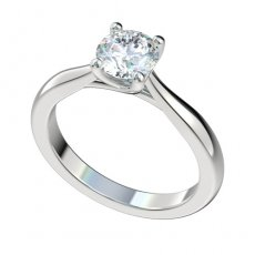 Cathedral Trellis Solitaire Engagement Ring