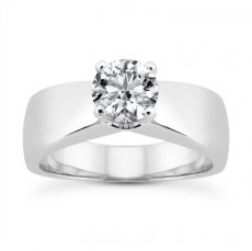Graceful 6.5mm Wide Solitaire Engagement Ring