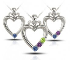 Tender Heart Pendant Accented With Color Enhanced Diamonds
