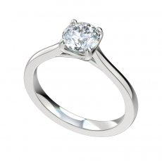 Cathedral Trellis Narrow Solitaire Engagement Ring